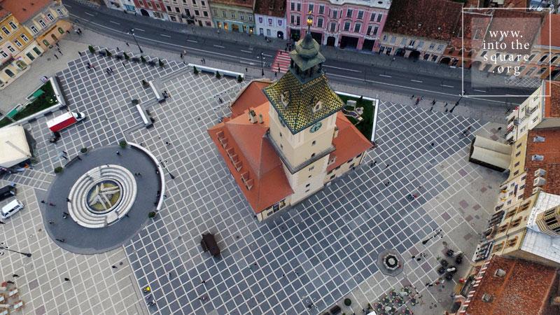 Brașov à vol d'oiseau